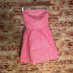 Euc Lilly Pulitzer strapless dress 0023